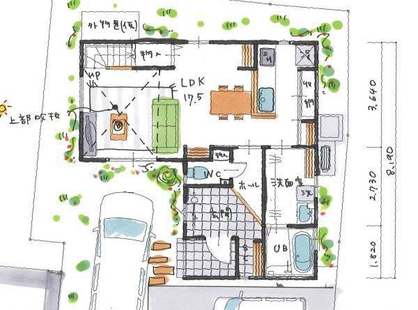 変形地の家
